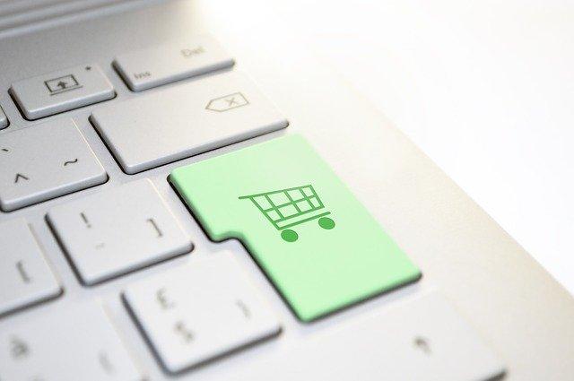 nakupování na klávesnici